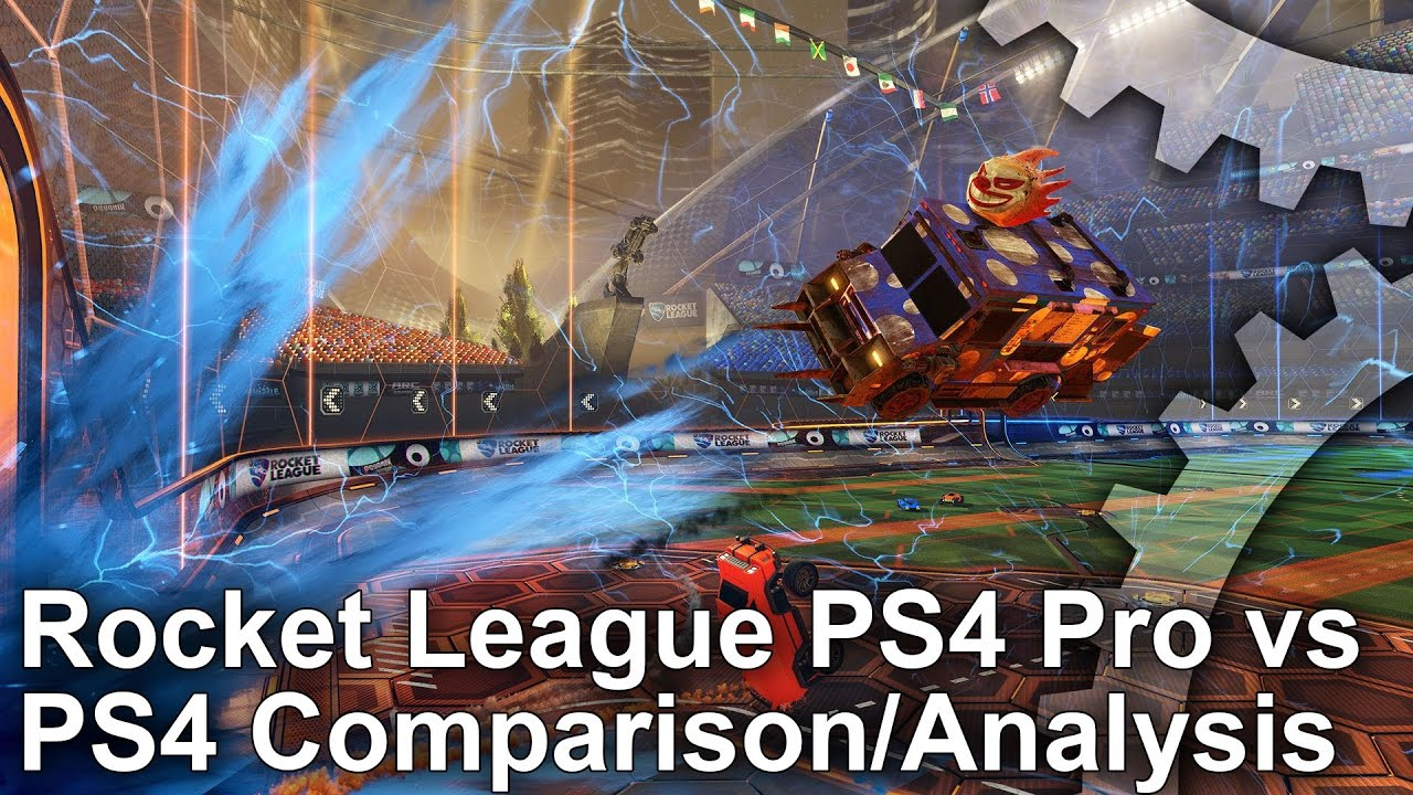[4K] Rocket League PS4 Pro vs PS4 Graphics Comparison + Frame-Rate Test