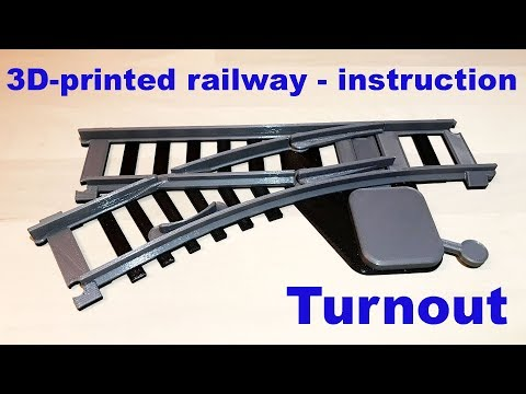 3D Printed model railway – Building instruction – turnout