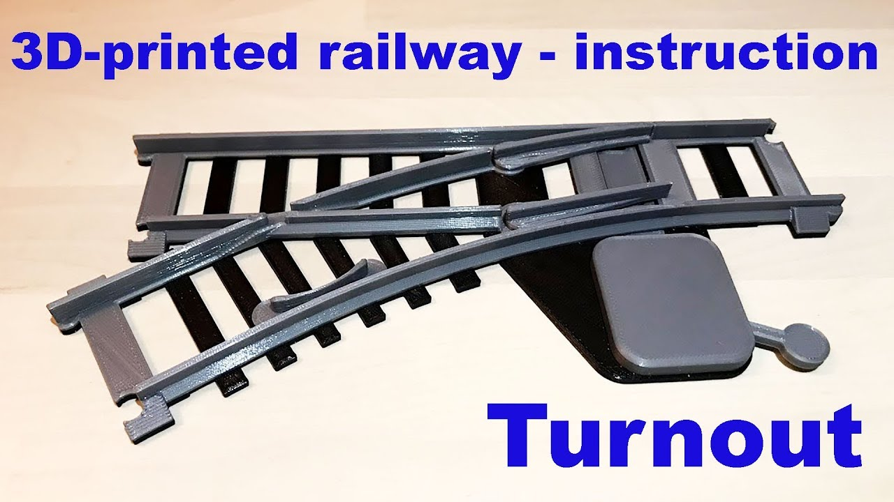 Presenting the OS-Railway system, fully 3D-printed model