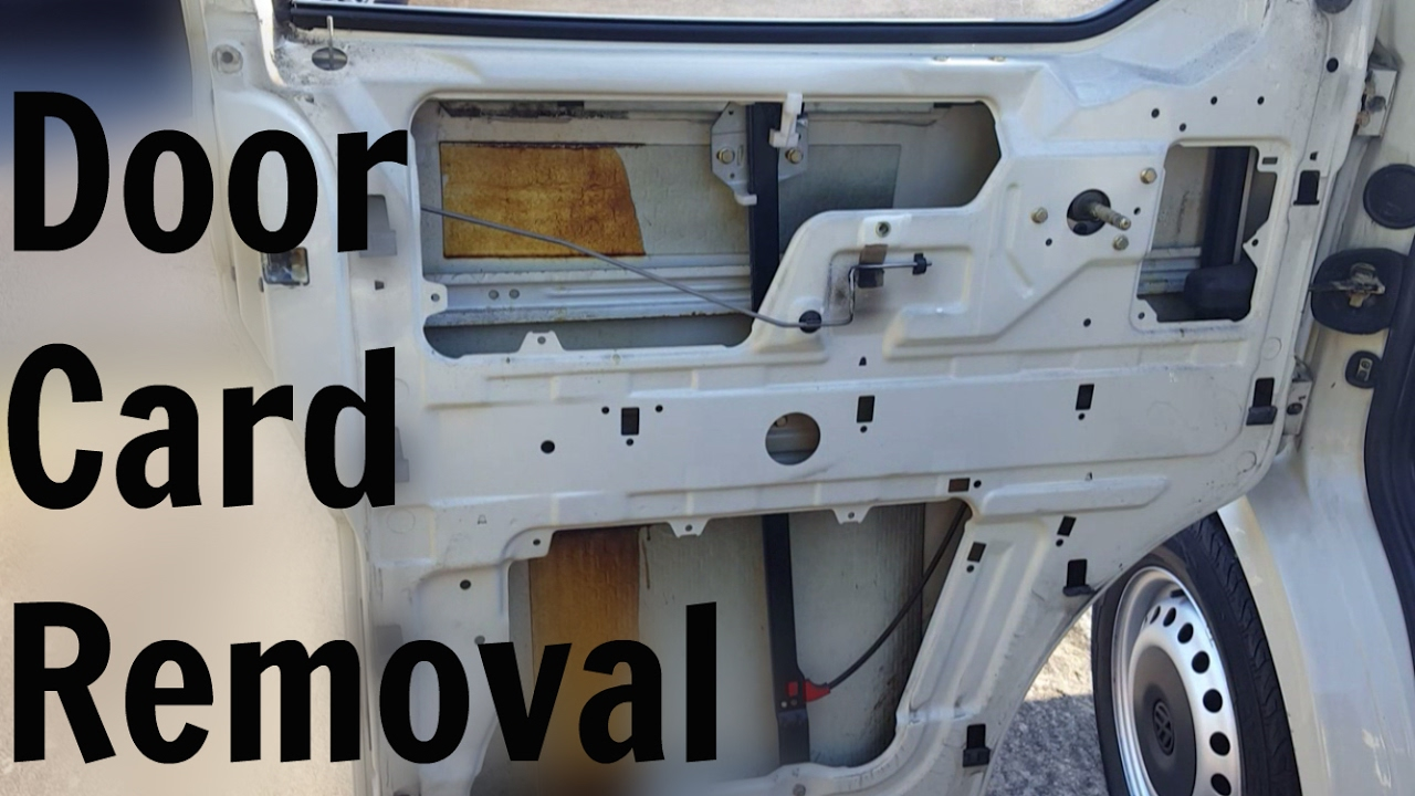 Vw T4 Transporter Door Card Removal Youtube