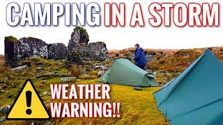 Dartmoor Wet and Windy Winter Wild Camping - FULL VIDEO