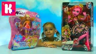 Открываем куклу Винкс Клуб и Монстер Хай большая кукла Unpacking giant doll Monster Hign & Winx Club