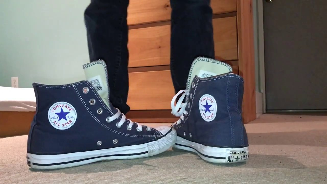d232985f68e6 Converse high top shoeplay (bar laced) - YouTube