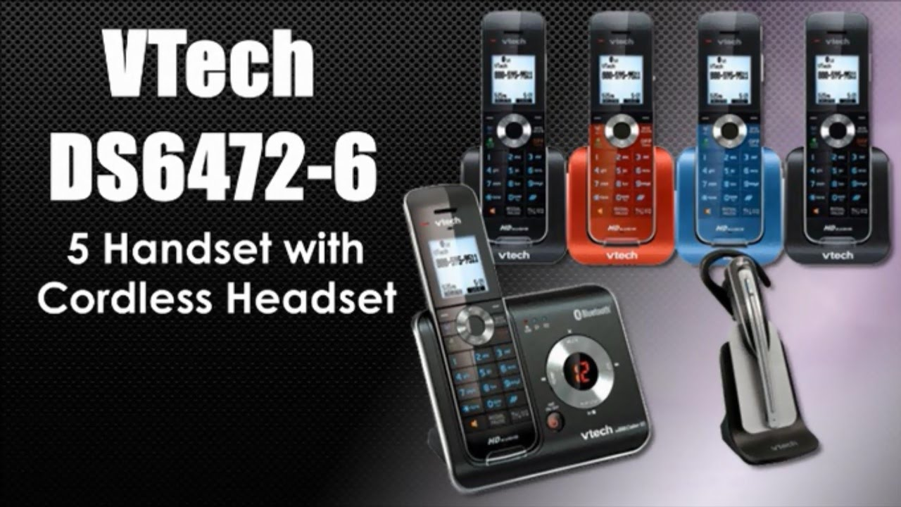 cordless phone with headset youtube rh youtube com VTech Answering Machine User Manual VTech DECT 6.0 User Manual