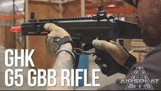 GHK G5 Airsoft Gas Blowback GBB Rifle - AirSplat On Demand