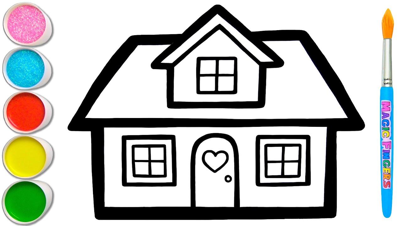 Download Menggambar Rumah, Melukis, Mewarnai untuk Anak & Balita   Mari Menggambar dan Melukis Bersama #162