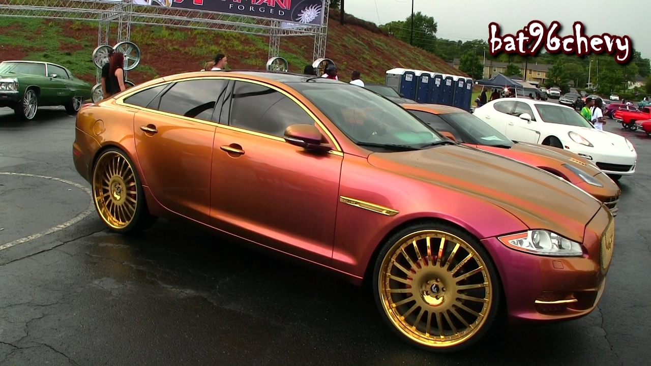 Outrageous Pink Gold Jaguar Xjl On 26 Gold Forgiato Wheels Hd