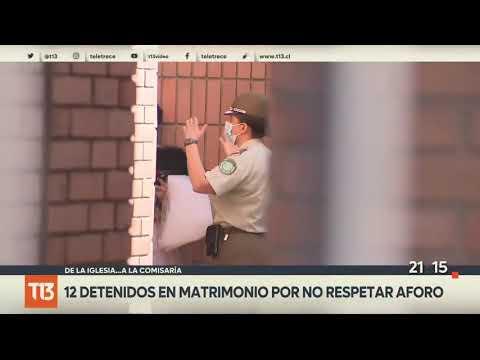 COVID-19: 12 detenidos en matrimonio en Las Condes en plena cuarentena