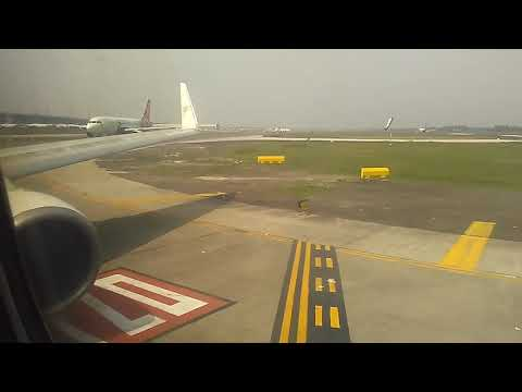 Tegang suara turbo Pesawat Sriwijaya Air Take off