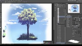 Paint Anime Style Tree Using Photoshop