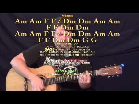 Ooh La (The Kooks) Guitar Lesson Chord Chart - Capo 1st