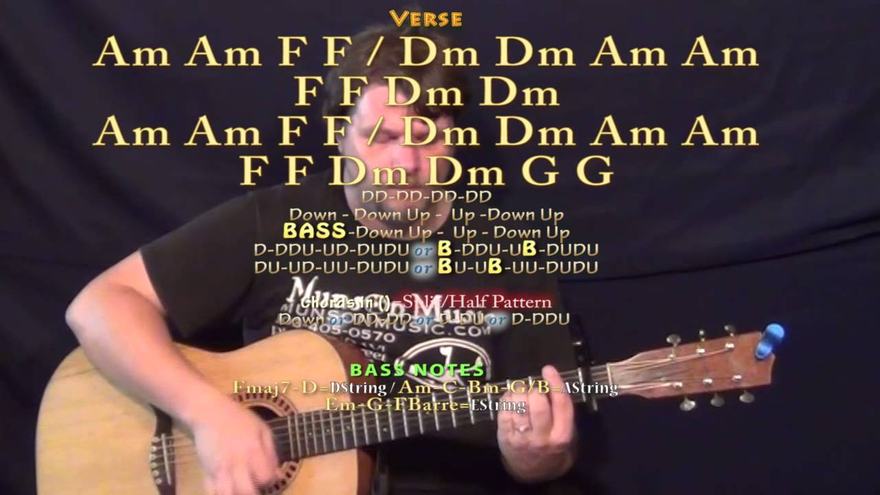 Ooh La The Kooks Guitar Lesson Chord Chart Capo 1st Youtube