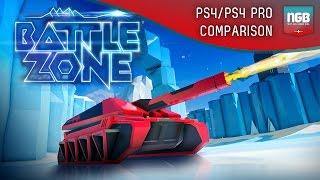 PlayStation VR - Battlezone - PS4 vs PS4 Pro! Comparison/Face-off