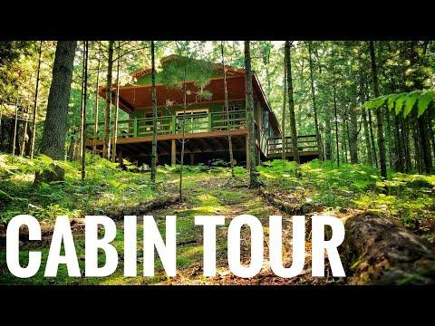 Offgrid Cabin Tour - Weekend Getaway   Michigan