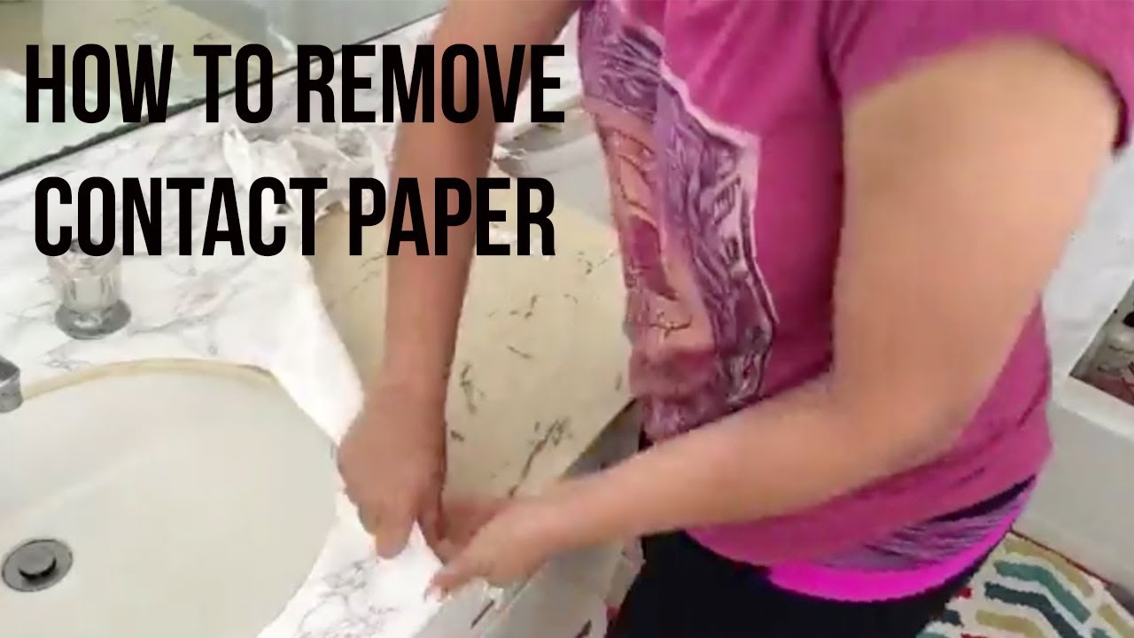 Remove Contact Paper From Countertop, How To Remove Contact Paper From Cabinets