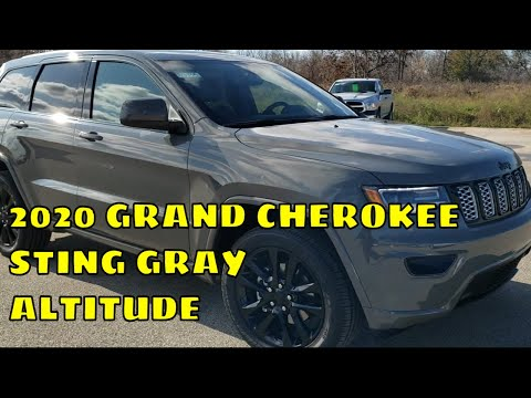 Brand New 2020 Jeep Grand Cherokee Sting Gray Altitude Walk Around