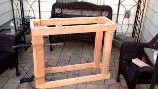 Overview Of Josh Building A Fish Tank Stand Part 1