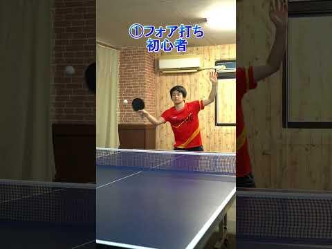卓球初心者と上級者の違い #Shorts