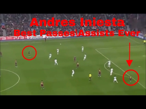 Andres Iniesta | Top 10 Passes\Assists Ever!!!!