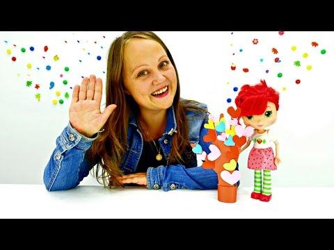 Поделки своими руками из бумаги. Земляничка делает подарок на день учителя. Видео для девочек