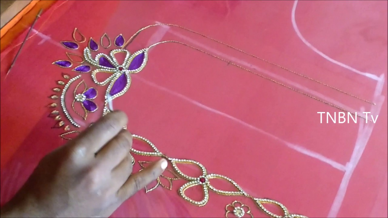 Hand embroidery tutorial for beginners mirror work