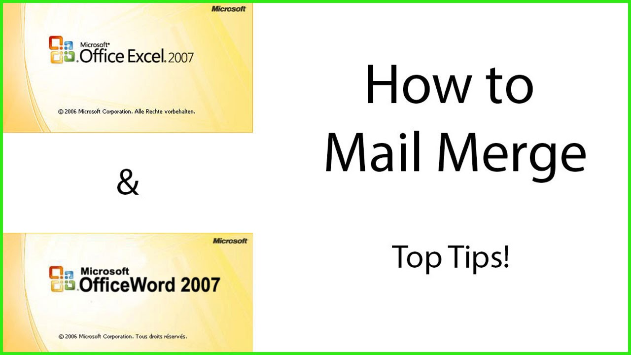 How to Mail Merge using Microsoft Excel and Word - YouTube