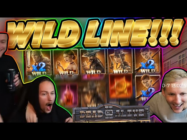 WILD LINE!! Dead Or Alive BIG WIN - HUGE WIN from CasinoDaddy Live Stream