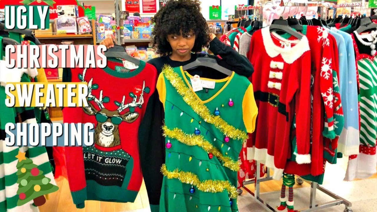 Christmas Shopping At Tj Maxx Ugly Christmas Sweater Shopping