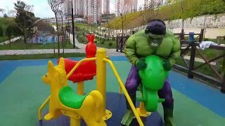HULK Oyun Parkında /  ln REAL Life HULK  having fun in PLAYGROUND