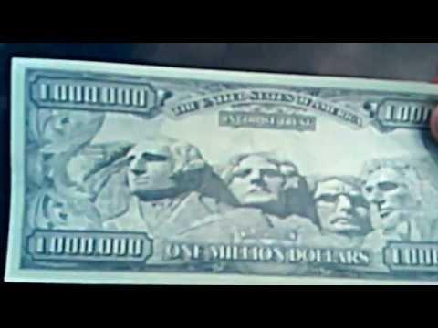 ONE MILLION AMERICAN DOLLARS