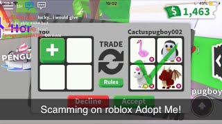 Scamming on Roblox Adopt Me! (Skit)