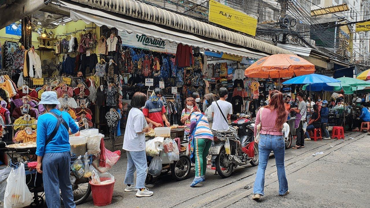[4K] Thailand Travel   Walk around Pratunam Market in Bangkok