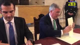 Alcalde y Secretario de Estado de Hacienda firman convenio para la nueva Biblioteca Municipal