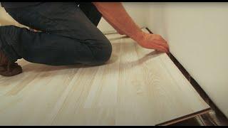Montarea parchetului laminat în sistem fold down