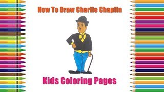 Charlie Chaplin Drawing Easy | How to Draw Charlie Chaplin | Coloring Pages | Drawing For Kids
