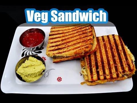 Veg Sandwich - aloo matar cheese sandwich