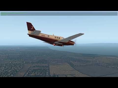 [X-Plane 11] Beechcraft King Air - Short Flight Bay Area
