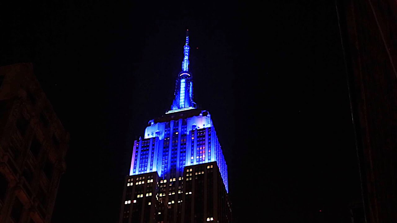 High Quality Empire State Building Lights For The U.S. Open Opening Night Ceremony Pictures Gallery