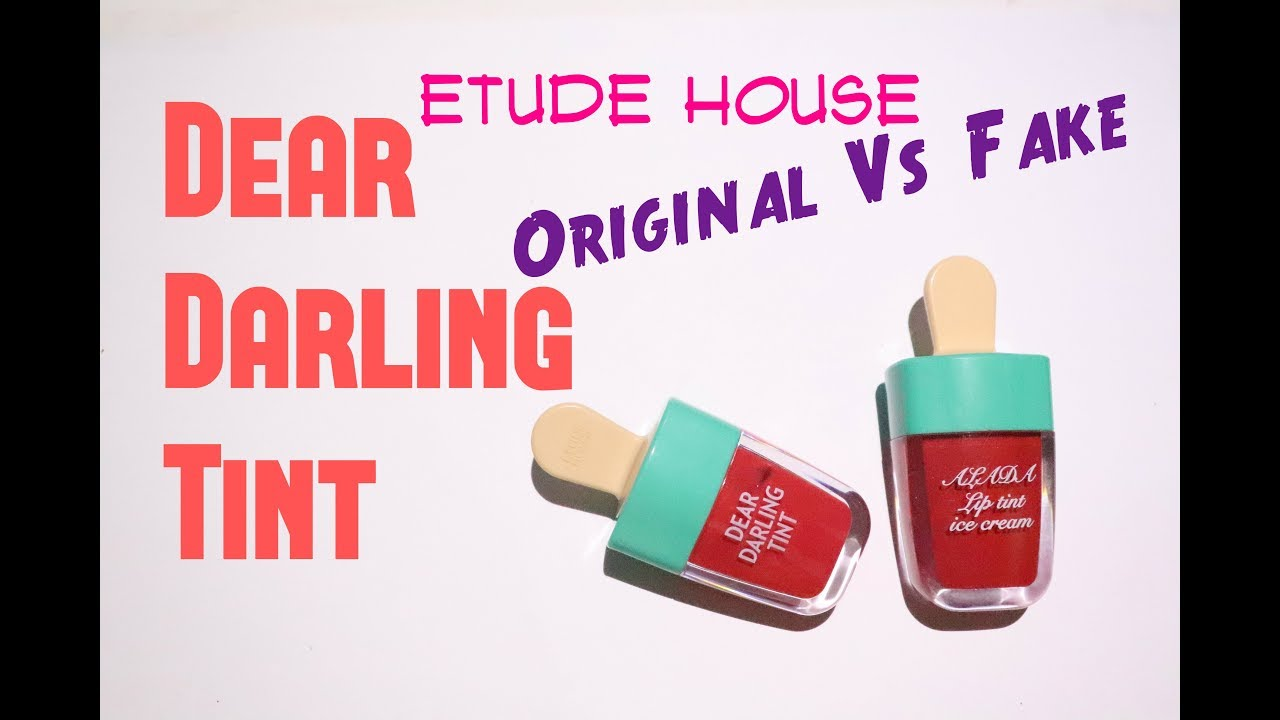Etude Houses Dear Darling Tint Original Vs Fake Youtube House Water Gel Ice Cream