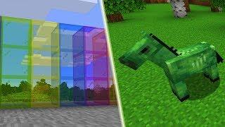 Nowy Wygląd Kolorowego Szkła i Koni - Minecraft 1.14!