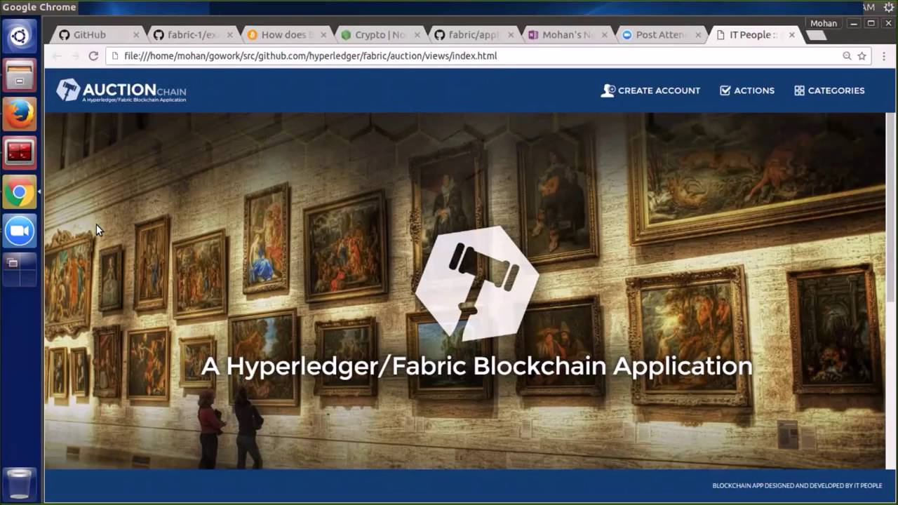 Hyperledger/Fabric Demo of an Auction Block Chain