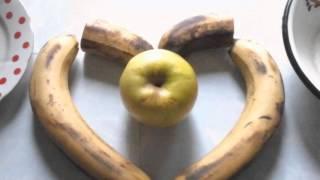❤🏡Как быстро приготовить бананово-яблочное пюре (простой рецепт)