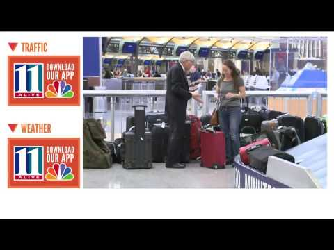 Delta baggage claim in Atlanta is a cluster of unclaimed bags