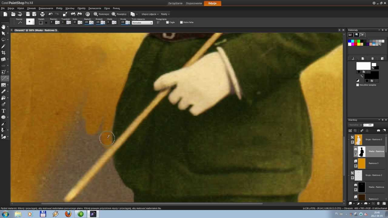 Corel Paint Shop Pro X4 Tutorial Pl Obróbka Zdjęć Kolorowanie