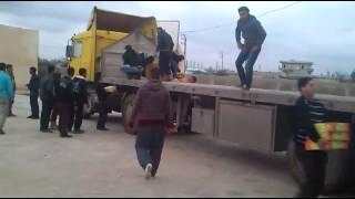 هيئة الشام الاسلامية   شاحنة تمر   ريف درعا 6