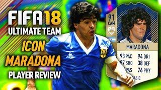 FIFA 18 DIEGO MARADONA (91) *ICON* PLAYER REVIEW! FIFA 18 ULTIMATE TEAM!