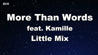 More Than Words feat. Kamille - Little Mix Karaoke 【No Guide Melody】 Instrumental