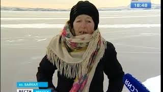 Байкал покоряет на коньках 77 летняя баба Люба