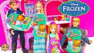 4 Shopkins Season 3 +2 Blind Bags with Disney Frozen Queen Elsa Hans + Anna Part 2