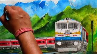 Tinsukia Bangalore Superfast Express in LHB - Painting